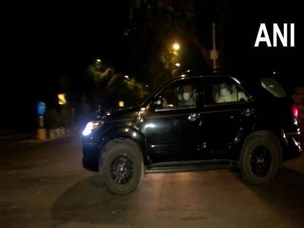 Visual of Suvendu Adhikari leaving the Home Minister's residence (ANI).