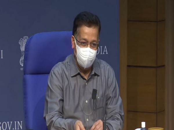 Union Health Secretary Rajesh Bhushan speaking to reporters in New Delhi on Tuesday. [Photo/ANI]