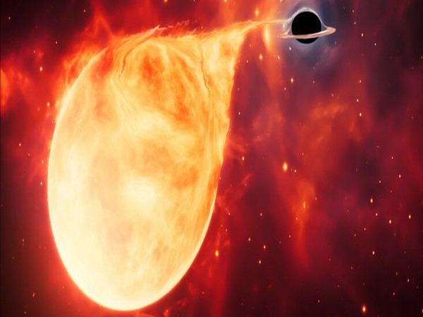 Intermediate-Mass Black Hole with Torn-Apart Star (Picture source: ESA)