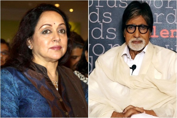 Hema Malini and Amitabh Bachchan