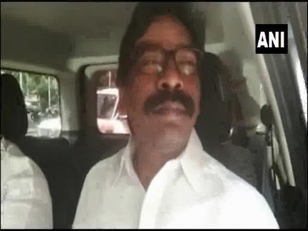 Jharkhand Mukti Morcha president Hemant Soren speaking to ANI on Tuesday in Bokaro
