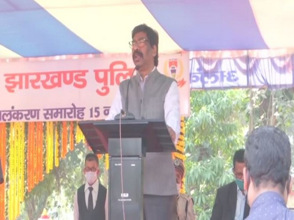 Jharkhand Chief Minister Hemant Soren today. (Photo/ANI)