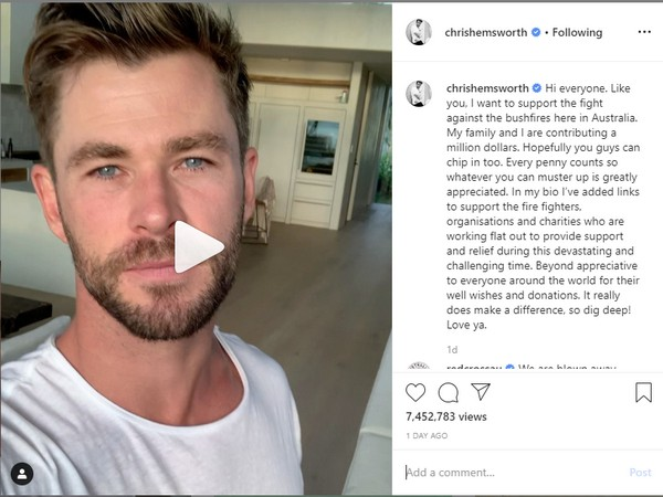 The actor pledged a million dollars towards disaster relief and urged people to donate money on the several charity links he posted on his profile bio (picture courtesy: Instagram)