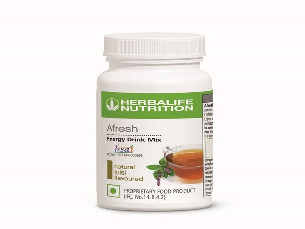 Afresh energy drink mix in Natural tulsi flavour from Herbalife Nutrition