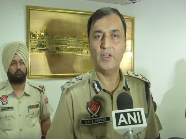 IGP border range Surinderpal Singh Parmar speaking to ANI in Amritsar on Tuesday. (Photo/ANI)