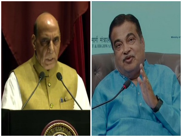 Union Defence Minister Rajnath Singh and Union Road Transport and Highways Minister Nitin Gadkari (File photo/ANI)