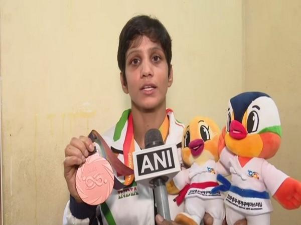 Anupama Swain, bronze medal winner in the recently concluded World Martial Arts Mastership Jiu-Jitsu