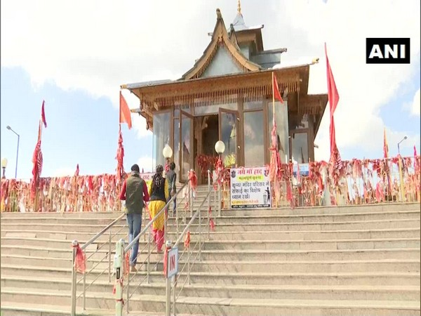 People visited Hatu temple in Shimla to offer prayers during Navaratri. (Photo/ANI)