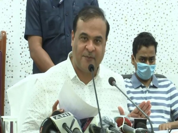 Assam Health Minister Himanta Biswa Sarma addressing a press conference in Guwahati on Sunday. (Photo/ANI)