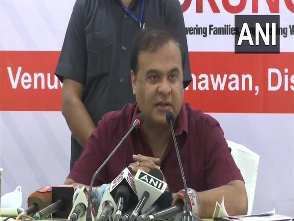 Assam Health Minister Himanta Biswa Sarma addressing press conference today