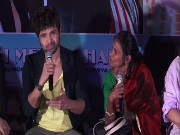 Himesh Reshammiya and Ranu Mondal at the song launch event