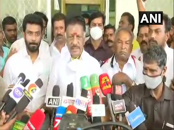 Tamil Nadu Deputy Chief Minister O Panneerselvam speaking to media on Friday (file pic/ANI).