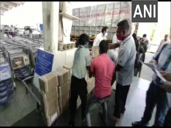 Boxes of Remedisivir vials at Indore airport. (ANI)