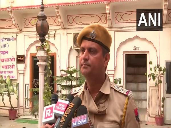 Station house officer of Jaipur's Kotwali, Vikram Singh (Photo/ANI)