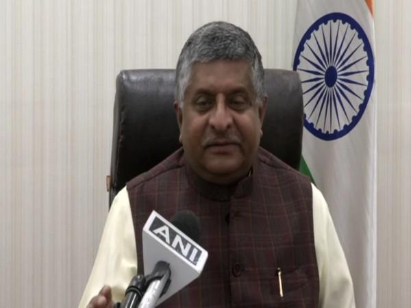 Union Minister Ravi Shankar Prasad speaking to ANI on Monday.