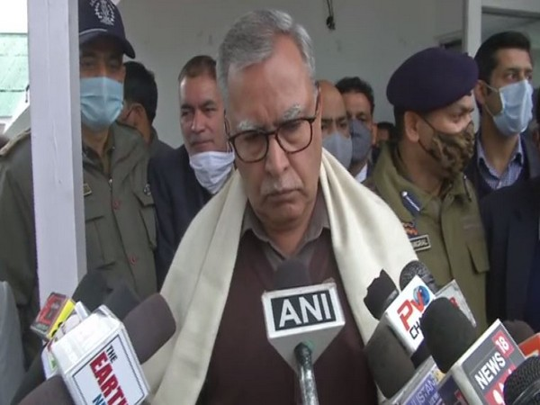Advisor to Jammu and Kashmir Governor, SH Farooq Khan speaking to media in Poonch on Feb 4