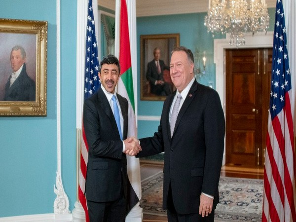 US Secretary of State Mike Pompeo haswith his UAE counterpart Sheikh Abdullah Bin Zayed Al Nahyan,