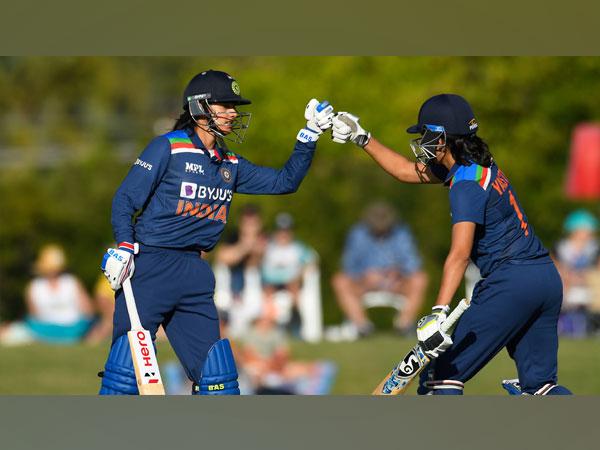Smriti Mandhana in action (Photo/ ICC Twitter)