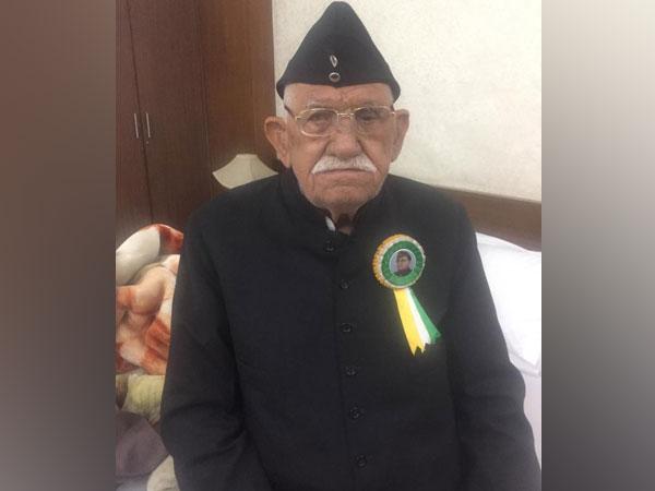 Late INA veteran Lalti Ram (file pic/ANI).
