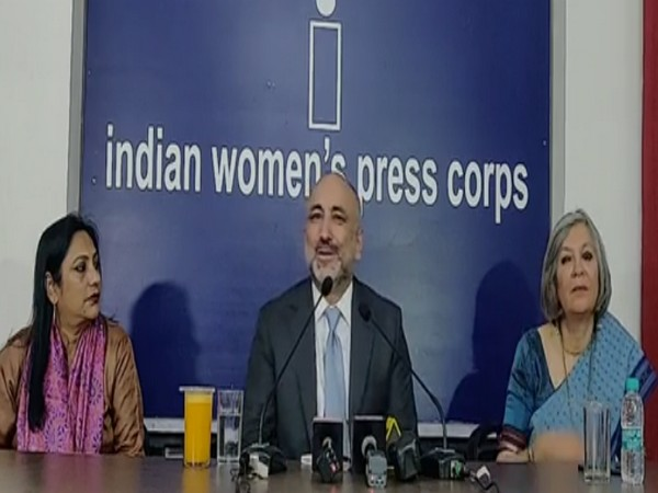 Afghanistan Foreign Minister Mohammad Haneef Atmar speaking at the Indian Women Press Corps on Tuesday.
