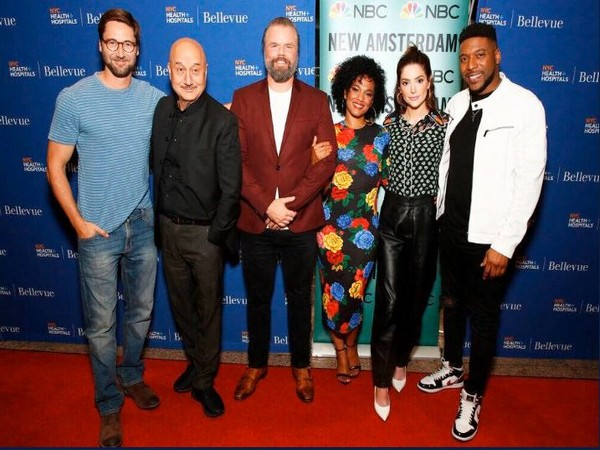 Anupam Kher and 'New Amsterdam' cast, Image Courtesy: Twitter
