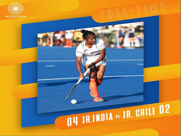 India registered a 4-2 win over Chile (Image: Hockey India)