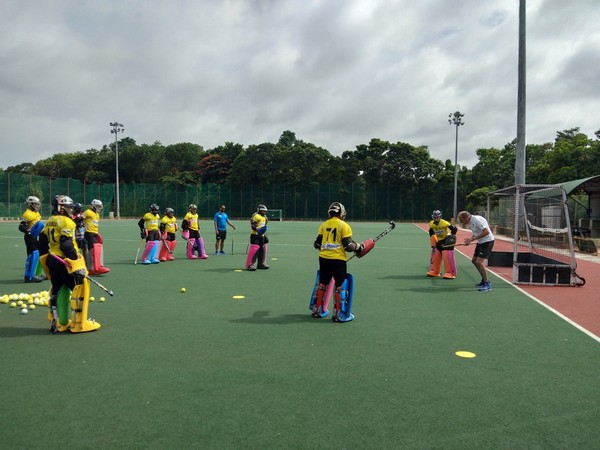 Goalkeepers training at the special goalkeeper's camp at Bengaluru. (Photo/Hockey India Twitter)