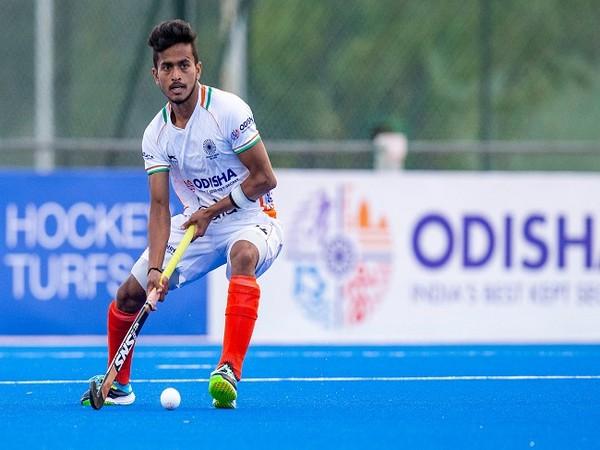 India midfielder Vivek Sagar Prasad (Image: Hockey India)
