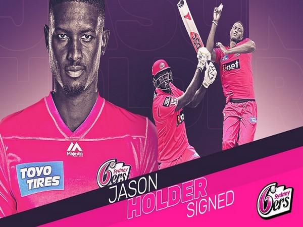 West Indies cricketer Jason Holder (Image: Sydney Sixers' Twitter)