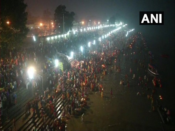 Hundreds of devotees took holy dip at Naya Ghat on banks of river Sarayu in Ayodhya on Tuesday