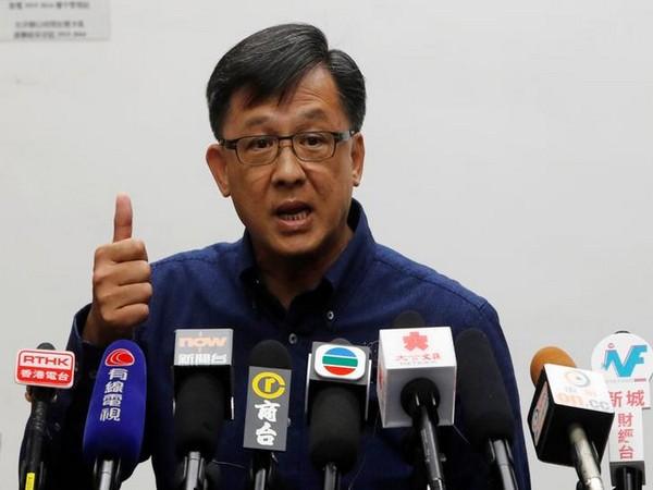 Pro-Beijing lawmaker Junius Ho Kwan-yiu addressing a press conference in Hong Kong (File photo)