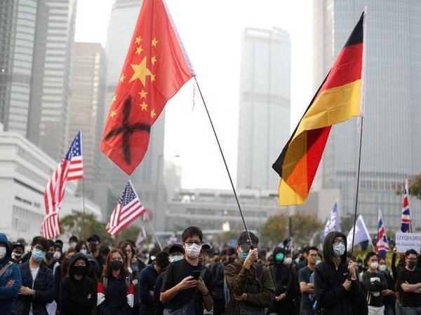 A rally organised in Hong Kong on Sunday in support of China's ethnic Uighurs