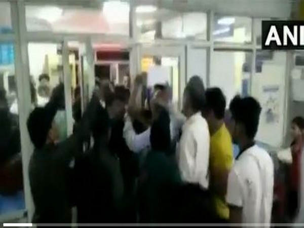 Locals created ruckus at Maharishi Valmiki Hospital on Tuesday. Photo/ANI