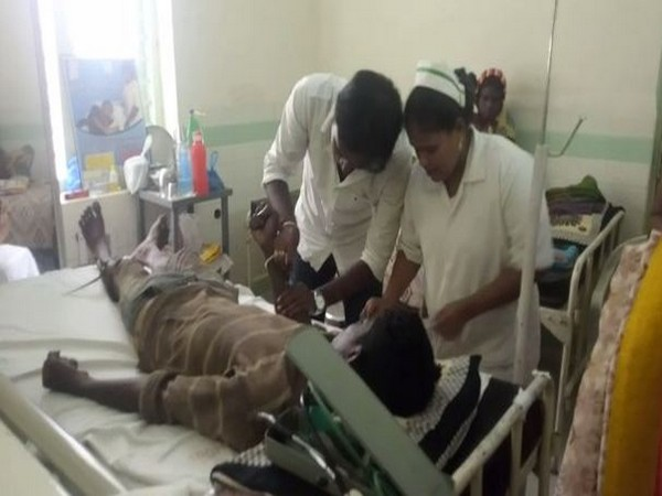 A patient being treated at the hospital on Monday. Photo/ANI