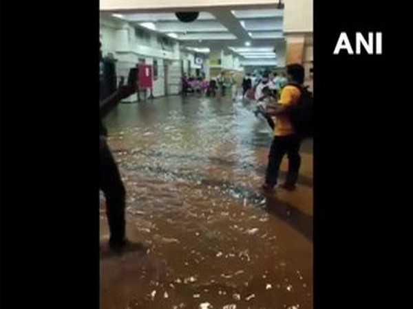 A visual from the hospital where water entered due to heavy rainfall in Mumbai on Wednesday.