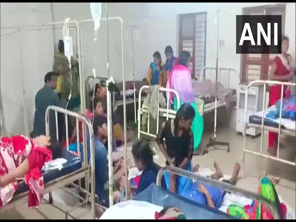Workers were admitted to a hospital due to gas leak in a factory in Balasore. (Photo/.ANI)