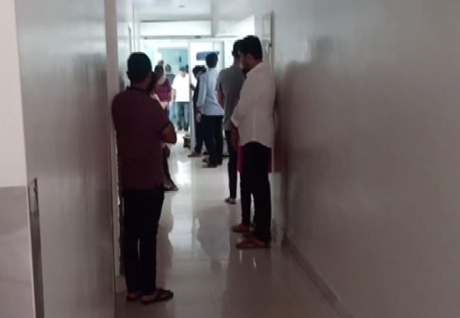 Visual of Shanthaveri Gopala Gowda hospital where Gangaiah Hegde died on Sunday. Photo/ANI