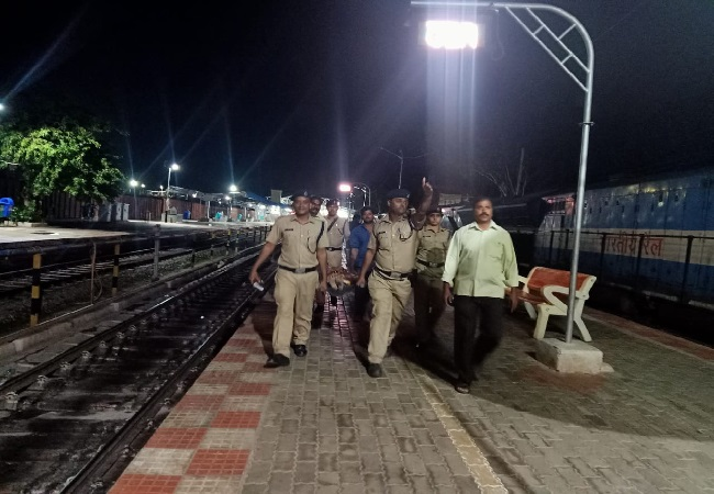 The woman who slipped at at Munirabad Railway station was taken to a hospital on August 3.