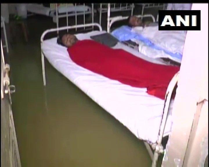 Waterlogging at Maharaja Yeshwantrao Hospital in Indore