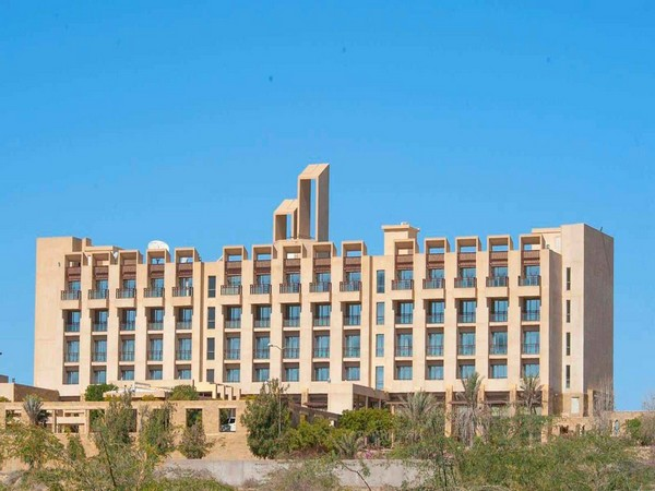 A view of Pearl Continental hotel at Gwadar, Balochistan
