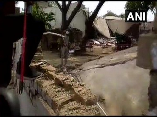 Vikas Dubey's house was demolished in Saturday.