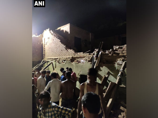 Image of the collapsed house.