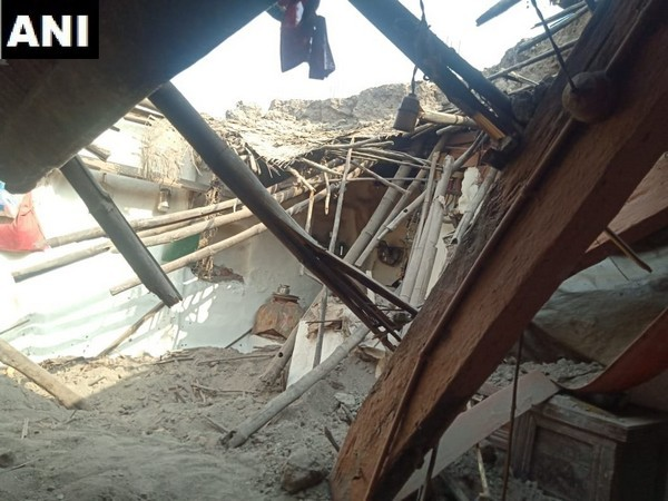 Three persons died in an house collapse in Dharwad on Tuesday