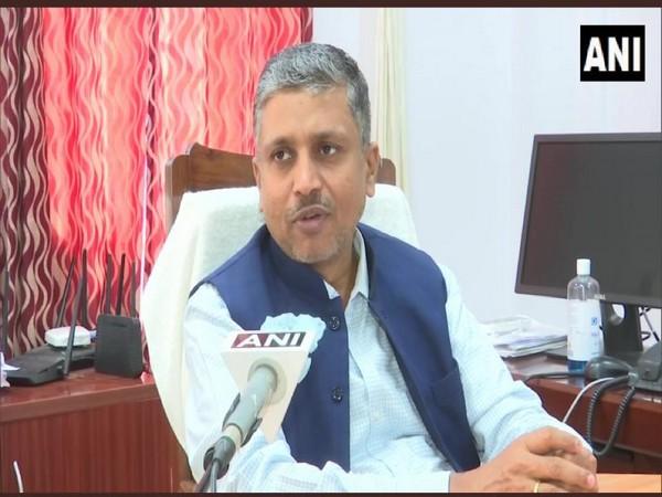 Bihar Chief Election Commissioner HR Srinivasa speaking to ANI. [Photo/ANI]