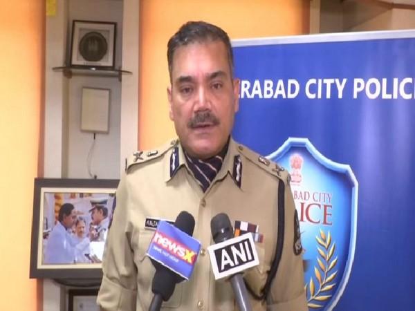 Hyderabad City Police Commissioner Anjani Kumar talking to ANI on Tuesday in Hyderabad. Photo/ANI