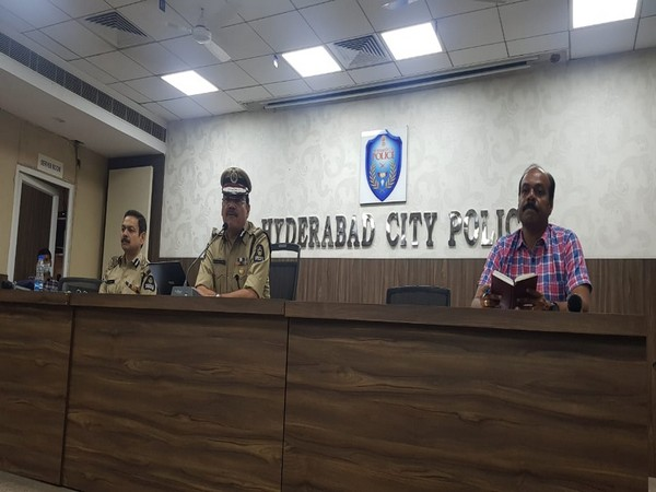 Anjani Kumar, Commissioner of Police (CP), Hyderabad City addressing a press conference on Wednesday. Photo/ANI