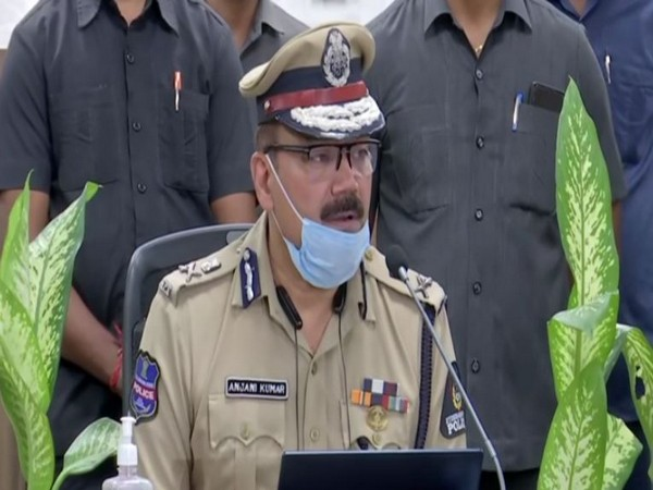 Hyderabad Police Commissioner Anjani Kumar addressed a press conference on Tuesday evening. [Photo/ANI]