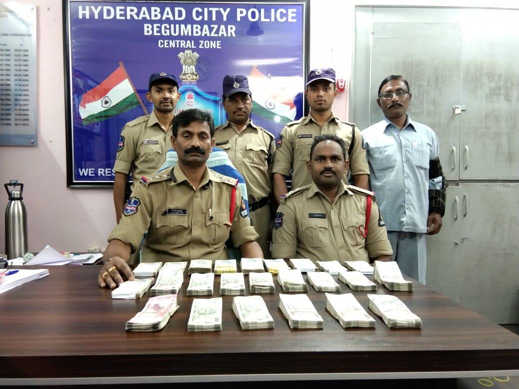 Hyderabad police seizes cash