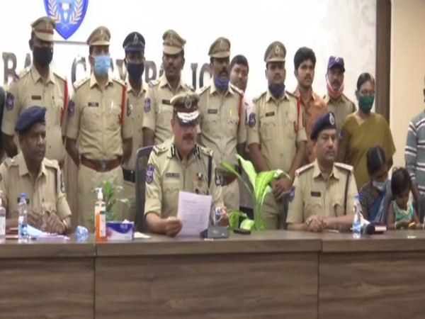 Anjani Kumar, Commissioner of Police Hyderabad City at the press conference.