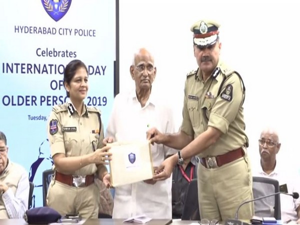 Hyderabad City Police dedicated the month of October for the cause of senior citizens.Photo/ANI